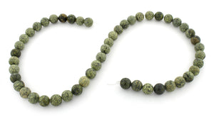 8mm Plain Round Russian Serpentine Gem Stone Beads