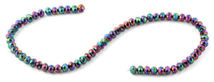 8mm Rainbow Faceted Rondelle Crystal Beads