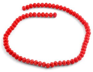 8mm Red Faceted Rondelle Crystal Beads