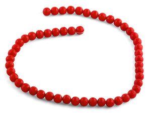 8mm Red Faceted Round Crystal Beads