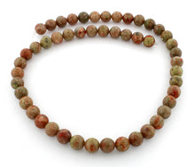 Load image into Gallery viewer, 8mm Round Autumn Gem Stone Beads