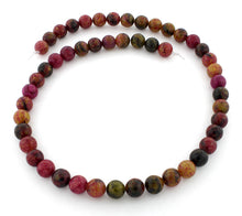 Load image into Gallery viewer, 8mm Round Red Turtle Jasper Gem Stone Beads
