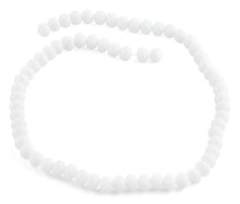 Load image into Gallery viewer, 8mm White Faceted Rondelle Crystal Beads