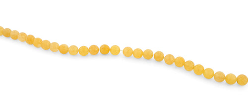 8mm Yellow Jade Round Gem Stone Beads