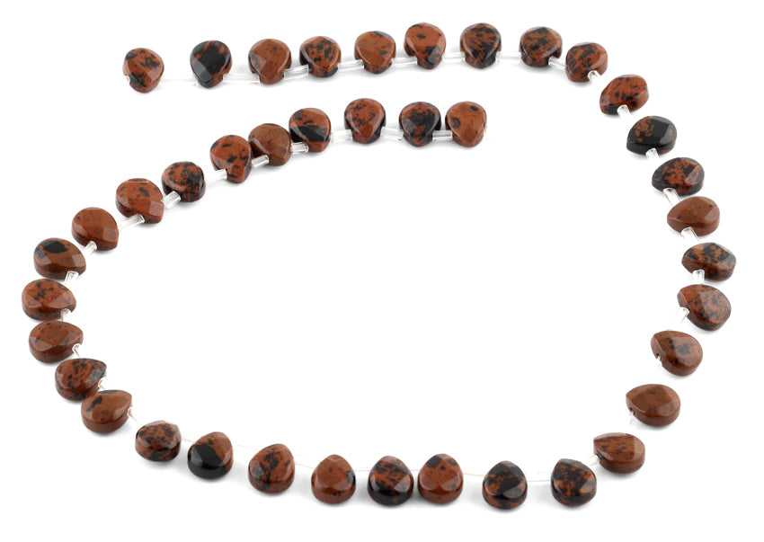 8x10MM Mahogany Pear Gemstone Beads