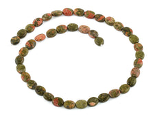Load image into Gallery viewer, 8x10MM Unakite Oval Gemstone Beads