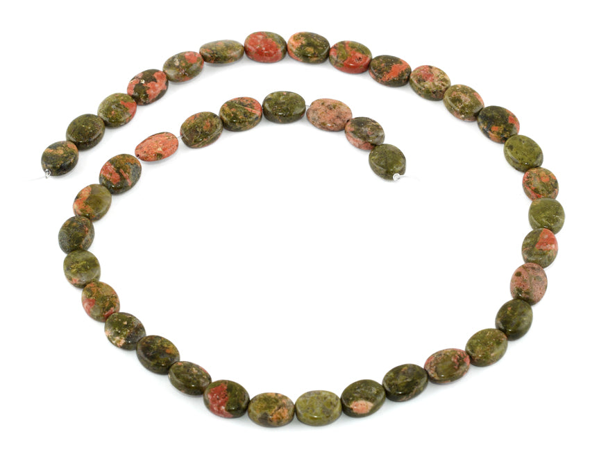 8x10MM Unakite Oval Gemstone Beads