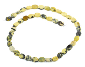 8x10MM Yellow Turtle Jasper Puffy Oval Gemstone Beads