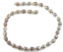 Load image into Gallery viewer, 8x12mm Clear Grey Drop Faceted Crystal Beads