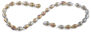 8x12mm Clear Grey Drop Faceted Crystal Beads