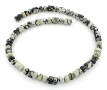 Load image into Gallery viewer, 8x12mm Plain Rondelle/Capsule White Turquoise Jasper Gem Stone Beads