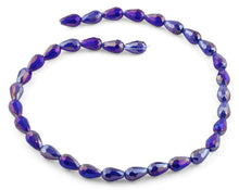 Load image into Gallery viewer, 8x12mm Purple Drop Faceted Crystal Beads
