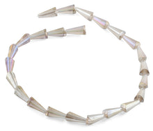Load image into Gallery viewer, 8x16mm Clear Cone Faceted Crystal Beads