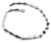 Load image into Gallery viewer, 8x16mm Grey Cone Faceted Crystal Beads