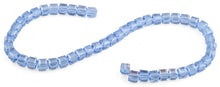 Load image into Gallery viewer, 8x8mm Blue Faceted Crystal Beads