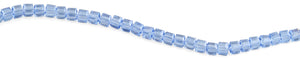 8x8mm Blue Faceted Crystal Beads