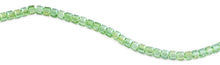 Load image into Gallery viewer, 8x8mm Green Square Faceted Crystal Beads