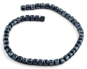 8x8mm Metallic Blue Square Faceted Crystal Beads