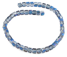 Load image into Gallery viewer, 8x8mm Navy Blue Square Faceted Crystal Beads