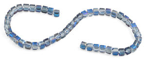 8x8mm Navy Blue Square Faceted Crystal Beads