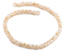 Load image into Gallery viewer, 8x8mm Peach Square Faceted Crystal Beads
