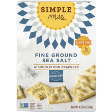 Load image into Gallery viewer, Simple Mills Almond Flour Crackers - Sea Salt, 4.25 oz