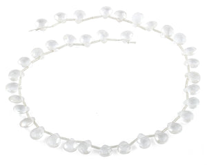 9x11MM Clear AB Gemstone Beads