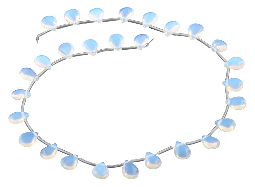 9x11MM Opalite Drop Gemstone Beads