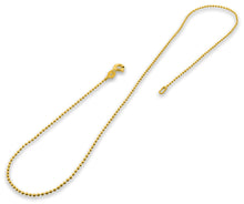 Load image into Gallery viewer, 14K Gold Plated Sterling Silver Bead Chain 1.5MM
