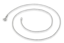 "Load image into Gallery viewer, Sterling Silver 8"" Bead Chain Bracelet 1.5 mm"
