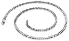 Load image into Gallery viewer, Rhodium Sterling Silver Curb Chain 3.0MM