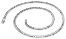 Load image into Gallery viewer, Sterling Silver Curb Chain Necklace 3.0MM