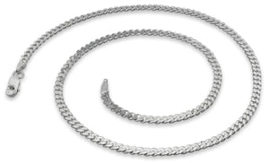 Sterling Silver Curb Chain Necklace 3.0MM