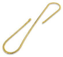 Load image into Gallery viewer, 14K Gold Plated Sterling Silver Curb Chain 4MM