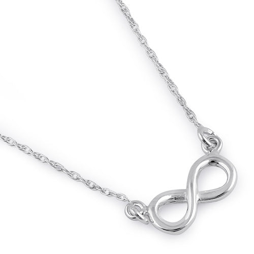 Sterling Silver Small Infinity Sign Necklace