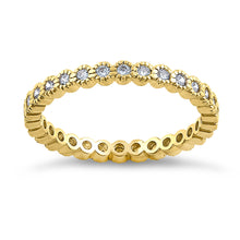 Load image into Gallery viewer, Solid 14K Yellow Gold Eternity Round 0.52 ct. Diamond Band