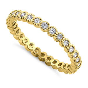 Solid 14K Yellow Gold Eternity Round 0.52 ct. Diamond Band
