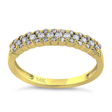 Load image into Gallery viewer, Solid 14K Yellow Gold Cluster 0.37 ct. Diamond Ring