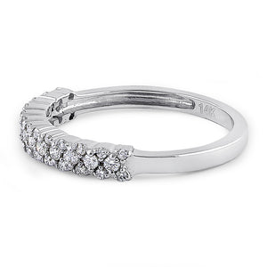 Solid 14K White Gold Cluster Diamond Ring