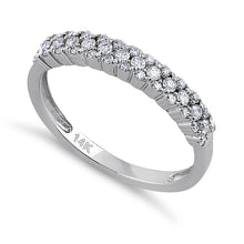 Load image into Gallery viewer, Solid 14K White Gold Cluster Diamond Ring