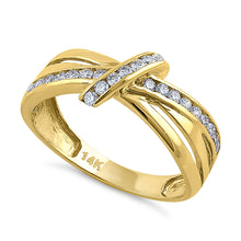 Load image into Gallery viewer, Solid 14K Yellow Gold Twist 0.47 ct. Diamond Ring