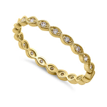Load image into Gallery viewer, Solid 14K Yellow Gold Oval Pattern 0.17 ct. Diamond Eternity Band
