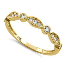 Load image into Gallery viewer, Solid 14K Yellow Gold Elegant Oval & Round Pattern 0.28 ct. Diamond Ring
