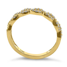 Load image into Gallery viewer, Solid 14K Yellow Gold Simple Twist 0.26 ct. Diamond Ring