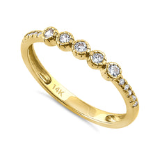 Load image into Gallery viewer, Solid 14K Yellow Gold Simple Round 0.30 ct. Diamond Ring