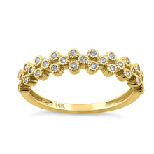 Load image into Gallery viewer, Solid 14K Yellow Gold Cluster Bubble 0.23 ct. Diamond Ring