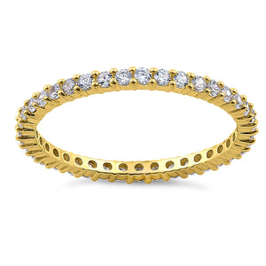 Solid 14K Yellow Gold Round Eternity 0.70 ct. Diamond Band