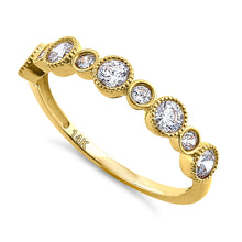 Load image into Gallery viewer, Solid 14K Yellow Gold Alternating Pattern 0.79 ct. Diamond Ring