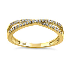 Load image into Gallery viewer, Solid 14K Yellow Gold Overlapping 0.21 ct. Diamond Ring