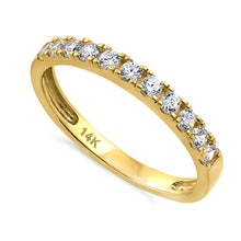 Load image into Gallery viewer, Solid 14K Yellow Gold Classic Single Row 0.45 ct. Diamond Ring